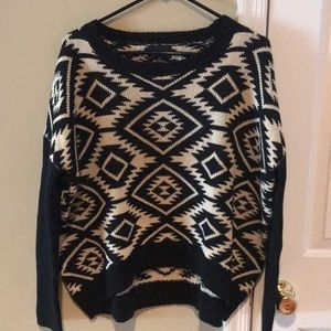 A tribal sweater